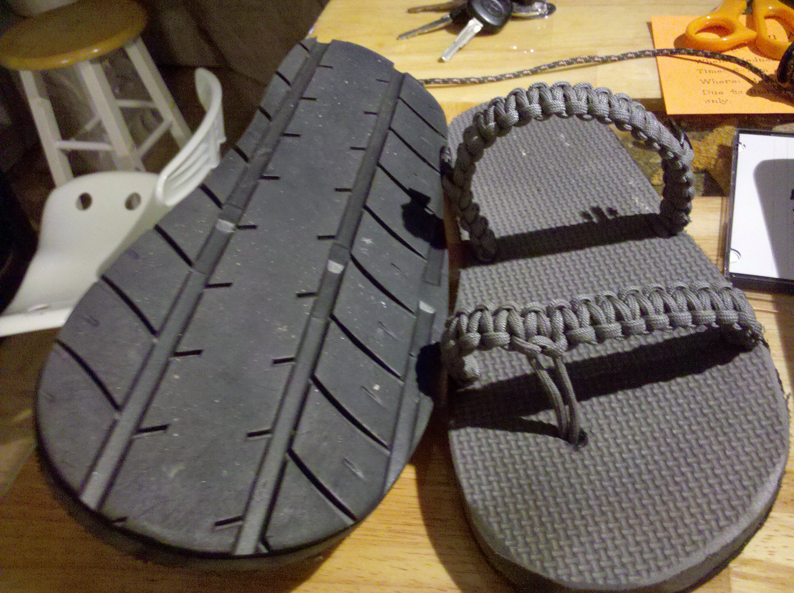 b32a70da0f333 An old project  Making your own flip-flop sandals