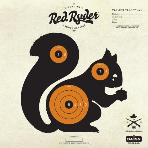 Revered image regarding squirrel target printable