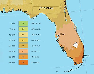 Climate Map Of Florida.Summer Crops For Coastal South Florida Zone 9b 10a Intro