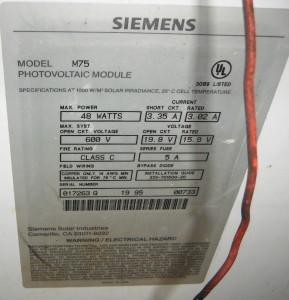48 watt M75 solar panel
