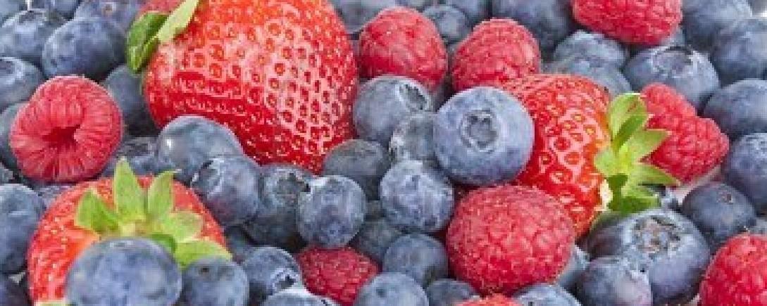 strawberries raspberries blueberries
