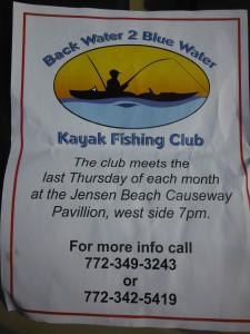 Back water 2 blue water kayak fishing club