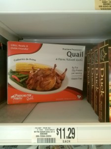 Packaged Quail Meat