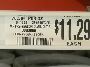 Price of Quail Meat per pound