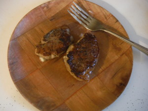 Pan Seared Pork Chops (Yes, that is butter on the fork)