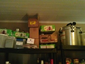 My canning gear in storage with the All American 921 on the right